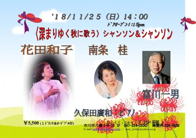 2018年11月25日 チラシ 共演:南条桂・富川一男